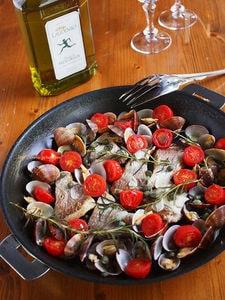 白身魚と浅蜊のコク旨アクアパッツァ