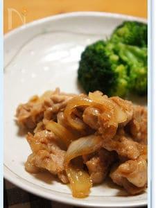 豚肉と玉ねぎの甘辛炒め。