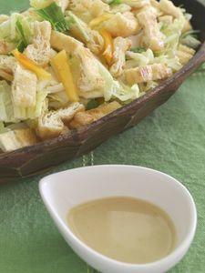 白菜と柿のサラダ〜ゴマ味噌ドレッシング