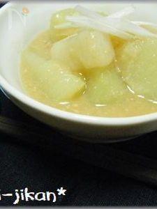 長芋とはやと瓜の味噌煮
