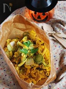 かぼちゃと胡瓜のジェノベーゼサラダパスタ