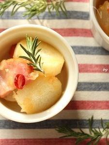 長芋とベーコンのオイル煮