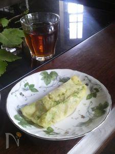 白あん入り枝豆ケーキホイル焼き