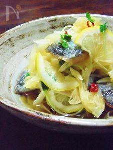 秋刀魚のレモン風味南蛮漬け