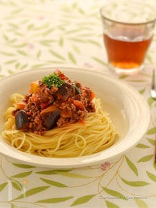 イタリアンミックスのミートソーススパゲティ