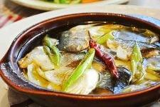 2種の葱と秋刀魚の和風アヒージョ