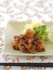 豚肉と里芋のしょうが焼き