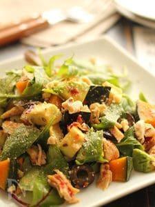 南瓜とアボカドとドライトマトのデリ風サラダ