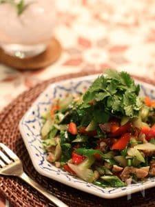 鶏ひき肉と彩り野菜のエスニック炒め