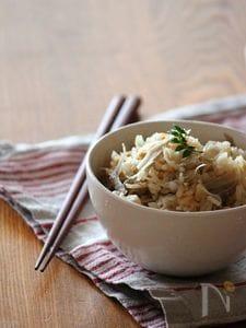 しらすゴボウの炊き込みご飯。