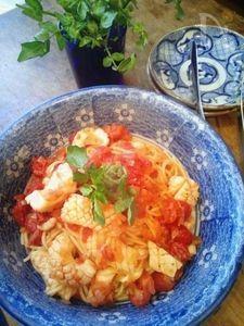 ガロファロで作るスミイカのトマトソースパスタ