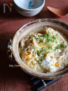 とろ玉葱と崩し豆腐の卵とじ