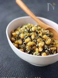 ご飯の友☆大豆と高菜、じゃこの甘辛