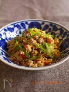 高野豆腐のそぼろ卵とじ煮
