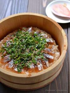 アジの手ごね寿司(三枚おろし)