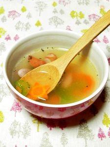 セロリの香りを楽しむコンソメスープ
