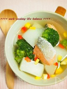 簡単!時短!鮭とかぶのクイックポトフ
