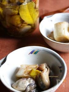 牡蠣と下仁田葱のオイルマリネ