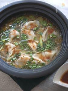 四川風な餃子鍋