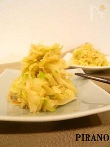 さきイカとキャベツのバターしょうゆ炒め