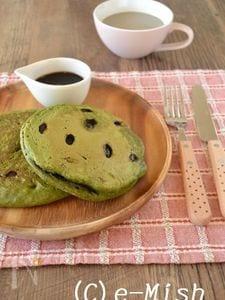 黒豆と抹茶のパンケーキ(HM簡単ver)