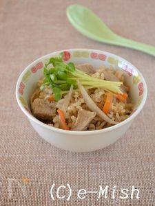 豚肉ときんぴらの中華風炊き込みごはん