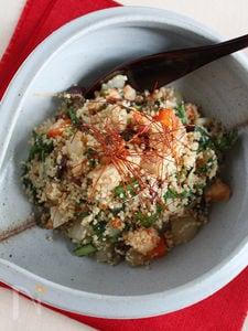 たっぷり野菜と海老の中華風クスクスサラダ