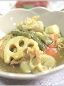 和風野菜のカレー煮込みあんかけ