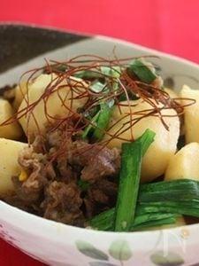 圧力鍋で!牛肉と里芋の韓国風甘辛煮