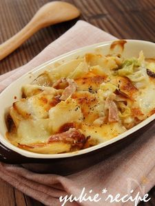 白菜とお餅のとろ~りグラタン