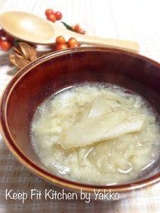 牛蒡のほっこり♪豆乳スープ