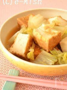 白菜と厚揚げの炊いたん