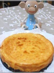 ママレード入りのチーズケーキ
