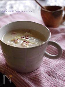 長芋とネギのとろとろミルクスープ