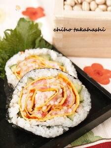 バラの太巻き寿司