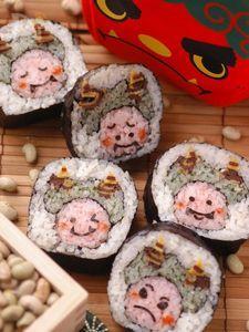 2月3日の節分に ~赤鬼さんの太巻き寿司~