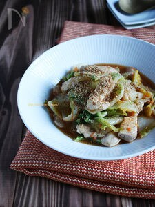 しゃきしゃき白菜と鶏胸肉のオイスター炒め