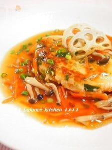 水切り不要!菜の花と筍のふわふわ豆腐ハンバーグ
