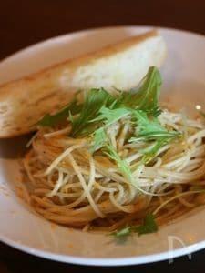 からすみと水菜のペペロンチーノ