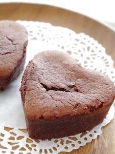 バレンタインに♥しっとりガトーショコラ風ハートケーキ