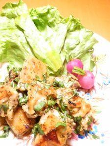 鶏肉のソテー バジル&グリーンカレー風味