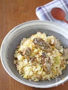 牡蠣とねぎの炒飯