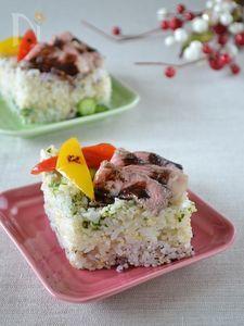 ローストビーフのひなまつり重ね寿司