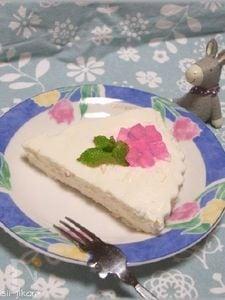 紫陽花のヨーグルトケーキ