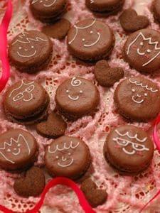 ♥似顔絵チョコマカロン♥