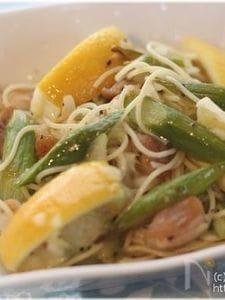 チキンとアスパラのレモンソルトスパゲティサラダ