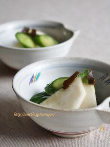 胡瓜と蕪の10分浅漬け