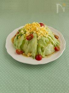 レタスのケーキ風サラダ