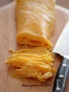 キレイに仕上がる薄焼き卵・錦糸卵。