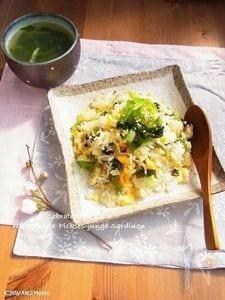 高菜としらすの卵チャーハン